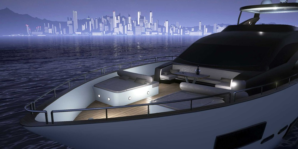 VR-Luxury-Super-Yacht-Visualisation-Unreal-Engine-4-UE4-Realistic-Real-Time-Rendering-Night-Front