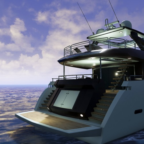VR-Luxury-Super-Yacht-Visualisation-Unreal-Engine-4-UE4-Realistic-Real-Time-Rendering-Wide-Angle-Day-Rear